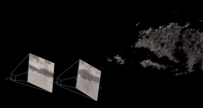Spatialization of boats approaching the shoreline of Okinawa, Japan.