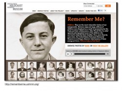 Image of home page of the United States Holocaust Memorial Museum