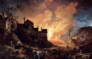 """Coalbrookdale by Night"" by Philipp Jakob Loutherbourg"