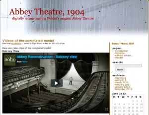 Digital reconstructions of the Abbey Theater in Dublin