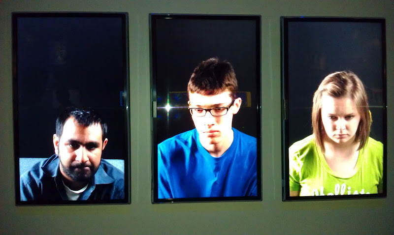 Video panels of players during gaming