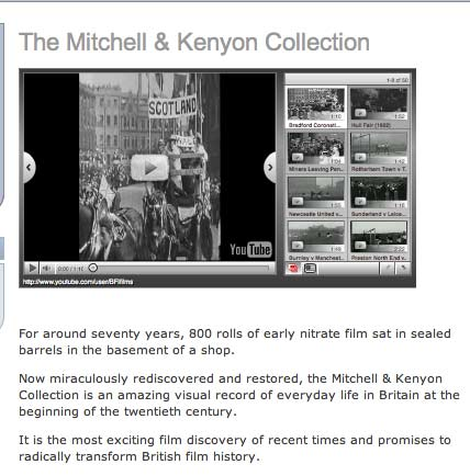 archived page for the Mitchell and Kenyon Collection