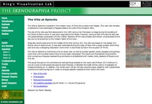 Homepage of the skenographia project