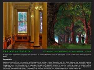 "Site for ""Vanishing Points,"" a digital exhibit and project inspired by Roman frescos"