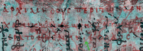 Image of Archimedes's Palimpsest, revealing the layers of text