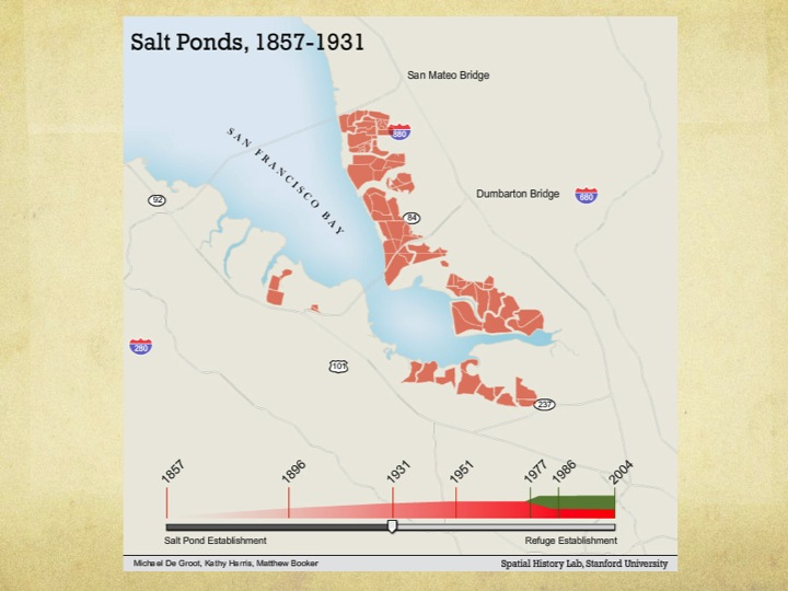 South San Francisco Bay Salt Ponds, 1857-1931.