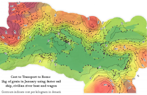 Isophoretric map of the Roman world