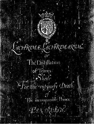 Title page showing white text on black background