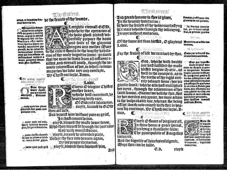 Opening From a 1557 Primer, as in EEBO