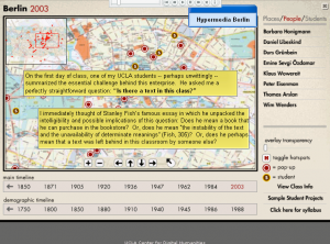 screenshot of Hypercities Project