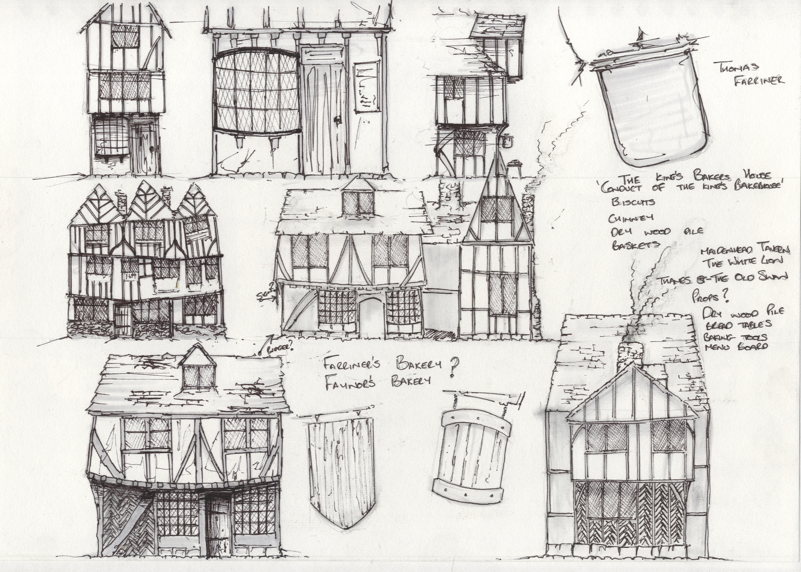 Pudding Lane - Bakery Sketches